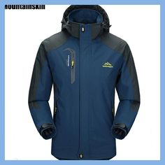 Cheap clothing for older men, Buy Quality clothing beach directly from China clothing deals Suppliers: Mountainskin Men's Jackets Waterproof Spring Hooded Coats Men Women Outerwear Army Solid Casual Brand Male Waterproof Hooded Jacket, Waterproof Coat, Types Of Jackets, Men's Coats And Jackets, Winter Jackets, Casual Jackets, Rain Jackets, Winter Coats, Autumn Coat