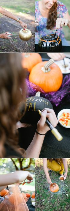 5 No-Carve Pumpkin Decorating Ideas @Carol Norris