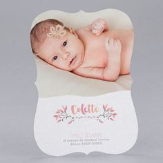 Faire-part de naissance personnalisés, faire-part vintage fpc