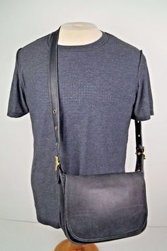 Vtg COACH 9951 Classic Patricia Black Leather Crossbody Shoulder Handbag Purse #Coach #ShoulderBag