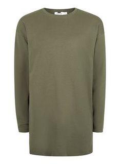 Khaki Loungewear Split Hem Sweatshirt