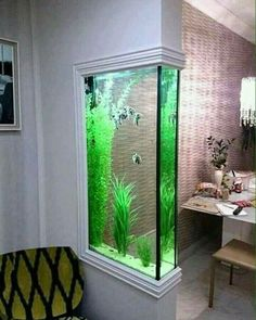 Those are the ideas of aquarium kitchen which can be your inspirations. Placing an aquarium in the kitchen is a smart idea to have a unique decoration. Aquarium Design, Wall Aquarium, Aquarium Ideas, Aquarium House, Corner Aquarium, Seahorse Aquarium, Seahorse Tank, Goldfish Aquarium, Goldfish Tank