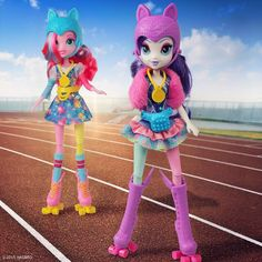 MLP Equestria Girls Friendship Games Pinkie Pie and Rarity Rollerskater Dolls