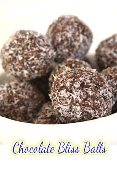 These Chocolate Bliss Balls are one of the easiest ways to curb the cravings without blowing the guilt.
