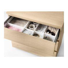 MALM 3-drawer chest, white stained oak veneer white stained oak veneer 31 1/2x30 3/4