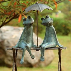 Sweet Frog Garden Sculpture to add a little fun to your garden or back yard.