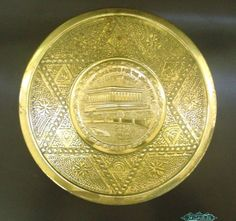 Pasarel - 60 Years To Balfour Declaration Commemorative Brass Plate, Israel, 1977. $145.00