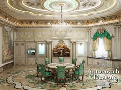 Incredible Luxury Dining Room | Spectacular Attention to Details | Love Antonovich Designs