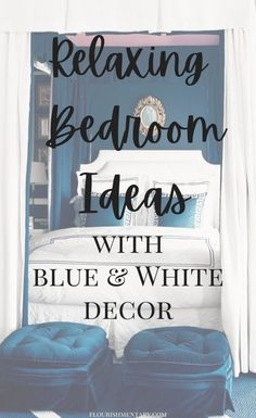 These bedroom decor ideas use lovely blue and white shades to create a relaxing and beautiful space for you to enjoy every night! Beautiful Space, Minimalist Scandinavian, Home Decor Inspiration, Decor Ideas, Do It Yourself Projects, White Houses, White Bedroom, White Decor, Bedroom Decor