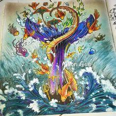 #imagimorphia #coloringbook #colouringbook #colorpencil #kerbyrosanes #animorphiacolouringbook