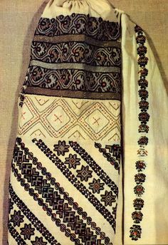 Costume and Embroidery of Bukovyna, Ukraine, part 1 morshchanka