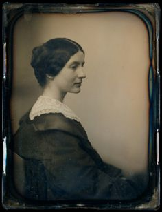 Mrs. James Thomas Fields (Annie Adams). daguerreotype by Albert Sands Southworth and Josiah Johnson Hawes, 1861.