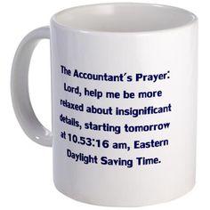 Accountant's Prayer Mug