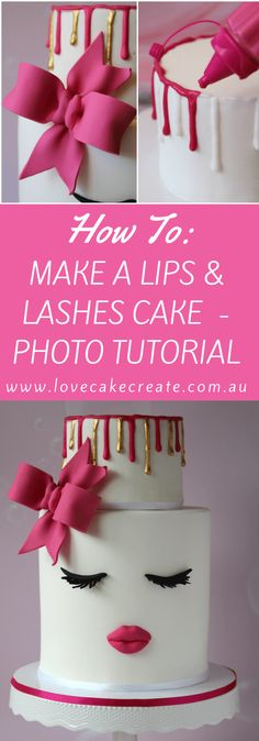 How to make a lips and lashes cake - by Love Cake Create
