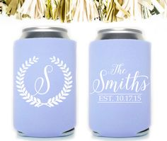 These Custom Wedding Koozies by Gracious Bridal will keep your