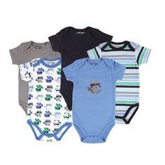 Luvable Friends Hanging 5 Pack Bodysuits Vests: Amazon.co.uk: Clothing