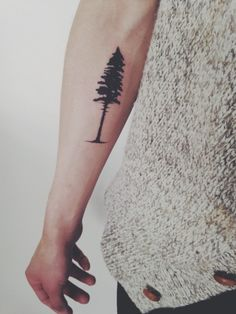 pine tree tattoo - www.redreidinghood.com