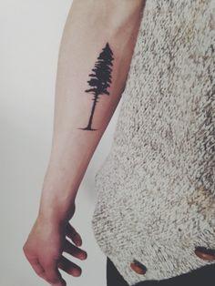 pine tree tattoo - www.redreidinghood.com