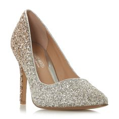 6507d05b475 Gold glitter  Avandra  high stiletto heel court shoes Court Shoes