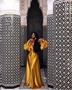 The 40 Best Places To Take Pictures In Marrakech Sidewalker Daily Black Girl Fashion Daily Marrakech PICTURES places Sidewalker Black Women Fashion, Womens Fashion, Black Girl Aesthetic, Aesthetic Yellow, Poses, The Dress, Black Girls, Black Girl Style, Black Women Style