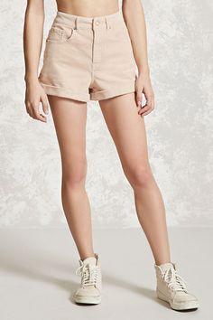 Cuffed Corduroy Shorts