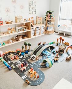 Montessori Playroom, Montessori Toddler, Toddler Play, Toddler Activities, Car Tracks For Kids, Modern Barn, Learning Through Play, Baby Bedroom, Big Houses