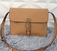 8959864fb518 Gucci Jackie Soft Leather Flap Shoulder Bag 362971 Apricot Gucci Shoulder  Bag