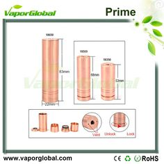 #Vaporglobal #ecig #mod #prime  prime mod ( copper and stainless steel color  ) from www.vaporglobal.com