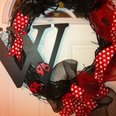 Painted wreath.