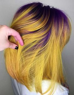 36 Lovely Combinations of Purple & Yellow Hair Colors in 2018