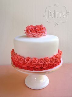 Ideas Birthday Cupcakes For Women Pretty Pretty Cakes, Cute Cakes, Beautiful Cakes, Yummy Cakes, Amazing Cakes, Birthday Cupcakes For Women, Birthday Cake, Fondant Cakes, Cupcake Cakes