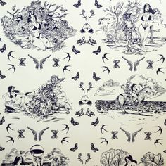 Sassy Toile Wallpaper by Flavor Paper