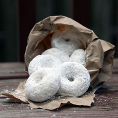 Classic Powdered Donuts.
