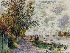 The Riverbank at Petit-Gennevilliers, 1875 - Claude Monet - WikiArt.org