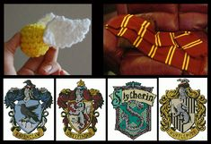 free harry potter craft project patterns - includes emblems of each house