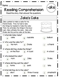 3 differentiated versions for each LONG VOWEL word family - over 30 word families included! First Grade Reading Comprehension, Reading Comprehension Worksheets, Reading Fluency, Reading Passages, Kindergarten Reading, Reading Skills, Teaching Reading, Learning, Reading Response