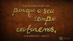 Eu estou lendo Gálatas 6.9