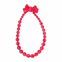 Marimekko Red/Pink Satu Necklace  - Click to enlarge