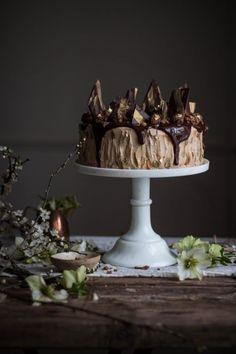 chocolate cookie dough cake with caramel frosting - twigg studios