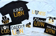 Lion Family Matching Shirts.Everything by CandycoatedDreamz