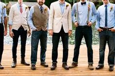 country wedding groomsmen attire - Google Search