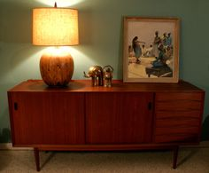 Show me a mid-century credenza, and I am a happy woman.