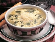 Chicken Florentine Egg Drop Soup. Interesting!