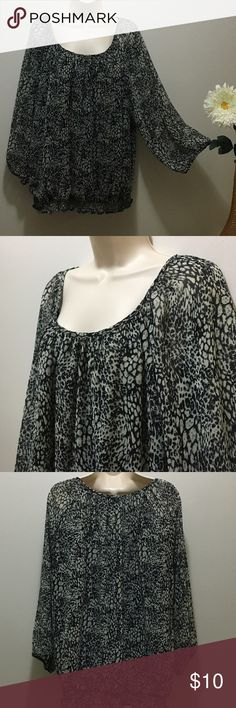 C. D. Daniels Top Very cute top! It is sheer so would need a tank top or under shirt. Has stretchy waistline. Gently worn. 100% polyester C. D. Daniels Tops Blouses