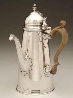 Queen Anne Brittania standard chocolate pot by John Jackson far exceeded the presale estimate of $4,000-$6,000, selling for $8,625.