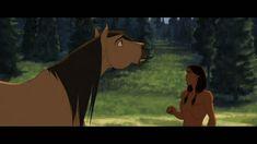 Spirit and Little Creek Spirited Art, Dreamworks Animation, Cartoon Movies, Mona Lisa, Disney Characters, Drawings, Artwork, Film, Horses