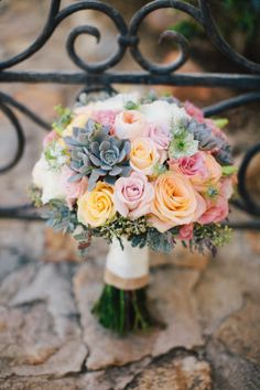 Roses and succulents: http://www.stylemepretty.com/california-weddings/carlsbad/2015/05/16/rustic-carlsbad-ranch-wedding/ | Photography: Zelo - http://zelophotoblog.com/