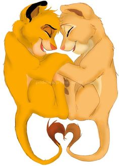 Simba  and Nala..this picture reminds me of him.. :'(: