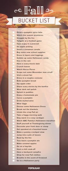 Check Off Your Fall Bucket List