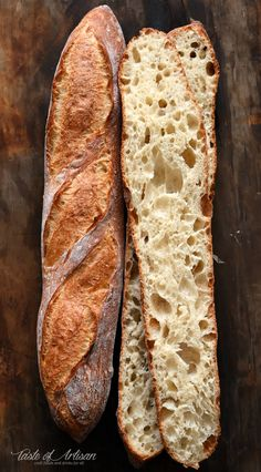 easy way to make an outstanding French baguette .An easy way to make an outstanding French baguette . Artisan Bread Recipes, Baking Recipes, French Bread Recipes, Crusty French Bread Recipe, Homemade French Bread, King Arthur French Bread Recipe, Chef Recipes, Muffin Recipes, Pizza Recipes